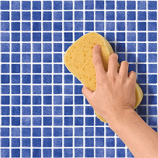 7. Lastly, clean the surface with a damp sponge and then with a dry cloth.
