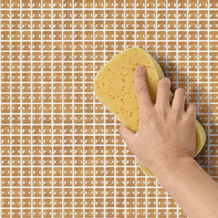 5.  Lastly, clean the surface with a damp sponge and then with a dry cloth.